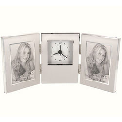 Personalized Tri-Fold 2x3 Photo Frame with Clock