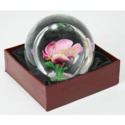 Pink Rose Paperweight