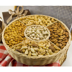 Five Section Nut Gift Basket