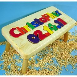 Birthday Stool with 9-12 Letters