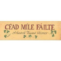 Cead Mile Failte Plaque