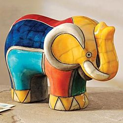 South African Raku Elephant Sculpture