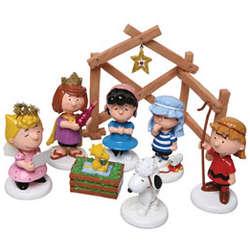 Peanuts Christmas Pageant Set
