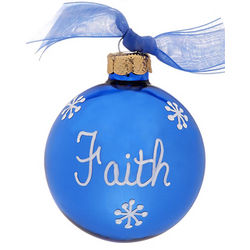 September Sapphire Birthstone Personalized Christmas Ornament