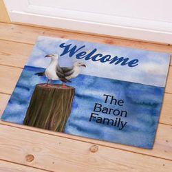 """18"""" x 24"""" Personalized Summer Welcome Doormat"""