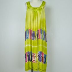 3 Quarter Tie Dye Tank Dress