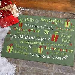 Jolly Holiday Personalized Doormat