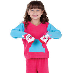 Kids Santa and Reindeer Puppet Pajama