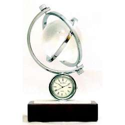 Austin Globe Gyro Chrome Clock