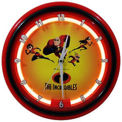 Disney Incredibles Neon Wall Clock