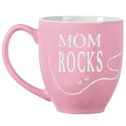Pink Personalized Rocks Bistro Mug