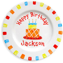 Personalized Boy's Birthday Cake Plate