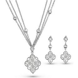 Nouveau Necklace and Earrings Set