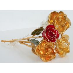 Gold-Dipped Rose Bouquet