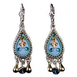 Sterling Silver Drop Earrings in Turquoise