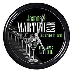 Personalized Best Drinks in Town Martinin Bar Clock