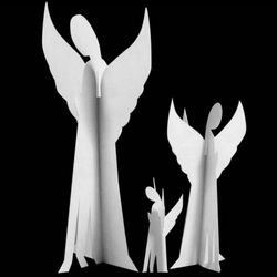 White Angel Die-Cut Holiday Decorations