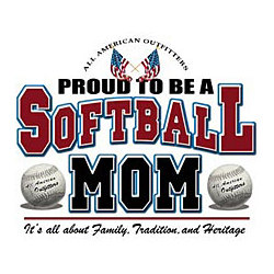 Proud Softball Mom T-Shirt