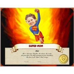 Superwoman Caricature Premium Luster Print