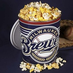 Milwaukee Brewers Popcorn Tin - 1 Gallon