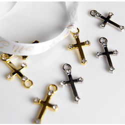 Mini Cross Favor Charms