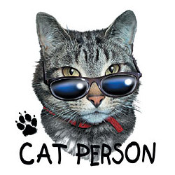 Cat Person Cotton T-Shirt