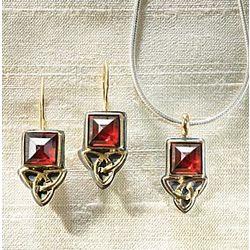 Celtic Aria Garnet Necklace