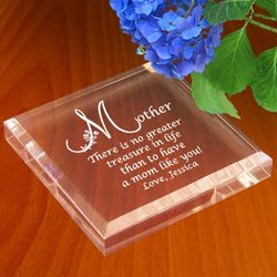 Personalized Motherly Treasure Paperweight
