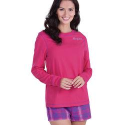Raspberry Plaid Flannel Short Pajamas