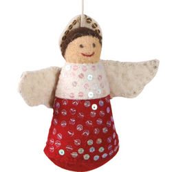 Angel Handmade Felt Ornament