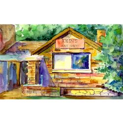 Backwoods Country Cabin Personalized Print