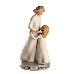 Personalized Willow Tree Mother and Daughter Figurine