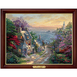 The Village Lighthouse Lighted Canvas Print