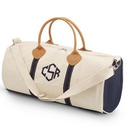 Natural Round Duffel Bag