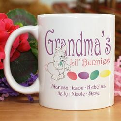 Lil' Bunnies Personalized Easter Ceramic Coffee Mug
