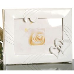 Double Heart Guest Book with Photo Frame Cover
