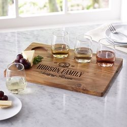 Personalized Wine Flight Serving Set