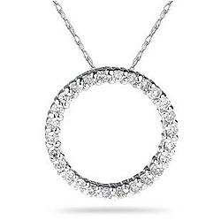.30ctw Diamond Circle Pendant in 14K White Gold