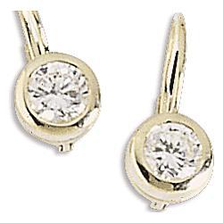 Cubic Zirconia Lever Back Earrings
