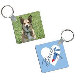 Silly Puppy Photo Keychain