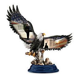 Patriotic Eagle Figurine Honoring Fallen Heroes