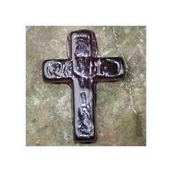 Hope Glass Amethyst Pocket Cross