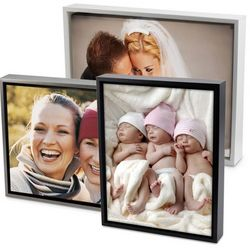 Color Photo on Canvas Art with Float Picture Frame