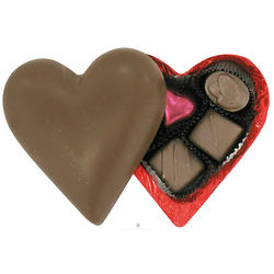 Organic Milk Chocolate Heart Filled with Chocolates