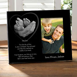 Dad's Loving Hands Personalized Picture Frame