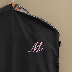 Personalized Garment Bag with Script Initial