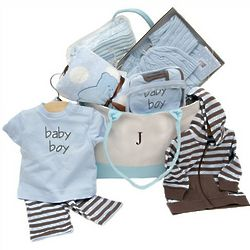 Deluxe Elegant Baby Boy Gift Set in Diaper Bag