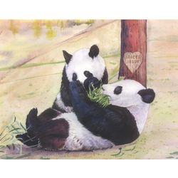 Panda Romance Personalized Print