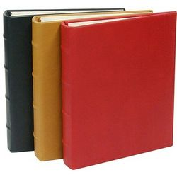 Traditional Leather Small Ring Clear Pocket Photo Album