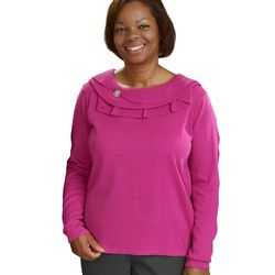Women's Ruffled Collar Adaptive Top
